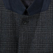 Paul Smith Men's Coat Paul Smith Coat Blend Wool Checked | BLACK