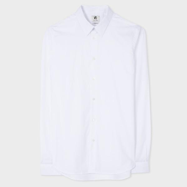 Paul Smith Men's Shirt Paul Smith Shirt Tailored-Fit Cotton | WHITE