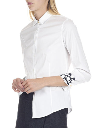 Paul Smith Women's Shirt Paul Smith Shirt Cotton With 'White Dots' Cuff Linings | WHITE