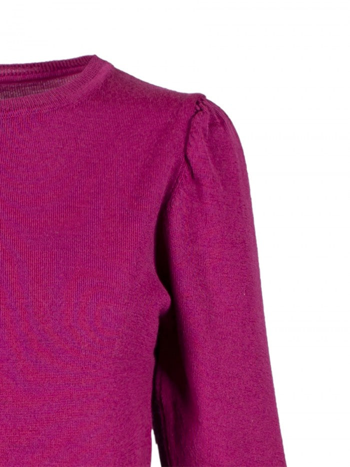 Anonyme Sweater Ruffled Sleeve | Fuchsia