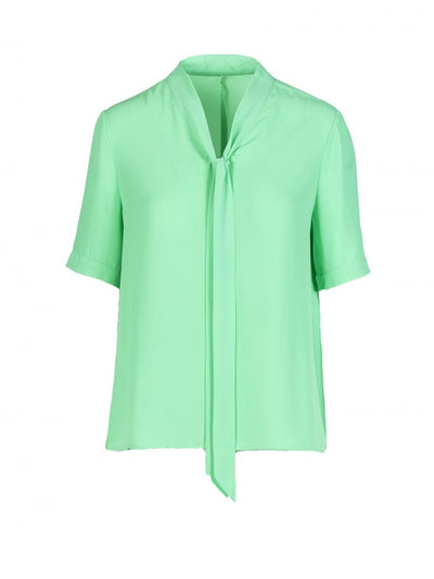 Anonyme Top With Bow Apolline | Mint Green
