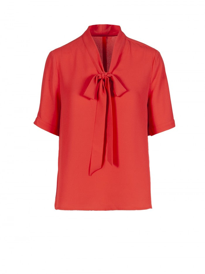 Anonyme Top With Bow Apolline | Red