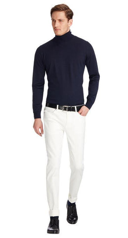 Van Gils Men's Sweaters Van Gils Sweater Rollneck | DARK BLUE