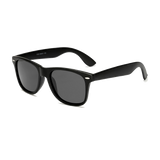 Classic sunglasses with matte finish and rubberized soft coated lenses