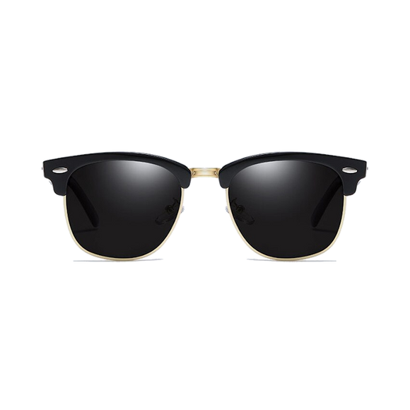 Black & Gold half frame sunglasses