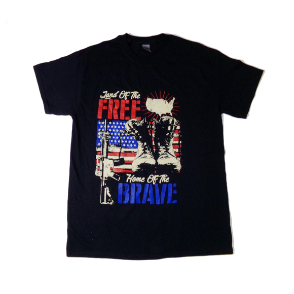 Land of the Free ... Home of the Brave, Patriotic, USA T-Shirt