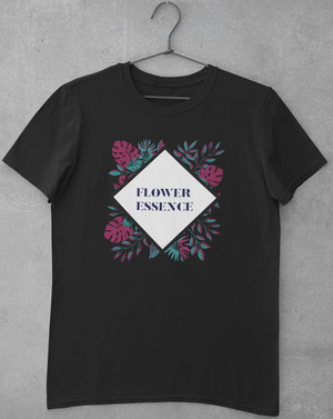 Flower Essence Diamond T-shirt With Colorful Leaves - Echo Essential Wear - Essential Oil T-Shirt Fashion