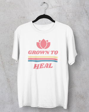 Grown To Heal Relaxed T-shirt - Echo Essential Wear - Essential Oil T-Shirt Fashion