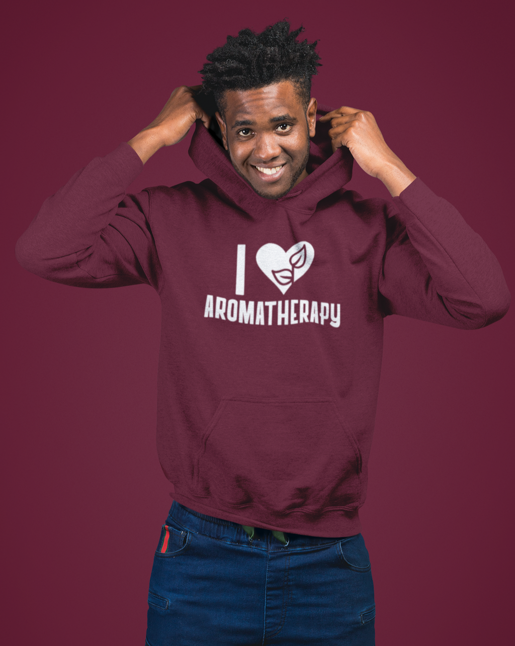 I Love Aromatherapy Men's Hoodie - Echo Essential Wear - Essential Oil T-Shirt Fashion