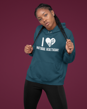 I Love Natural Healthcare Hoodie - Echo Essential Wear - Essential Oil T-Shirt Fashion