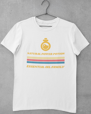 Natural Power Potion Retro T-shirt - Echo Essential Wear - Essential Oil T-Shirt Fashion