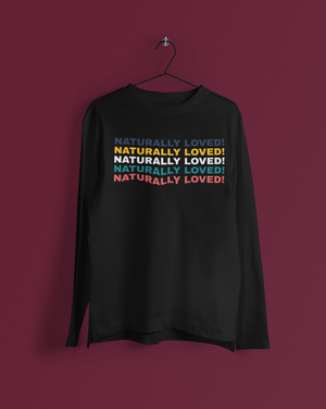 Naturally Loved Retro Men's Long Sleeve - Echo Essential Wear - Essential Oil T-Shirt Fashion