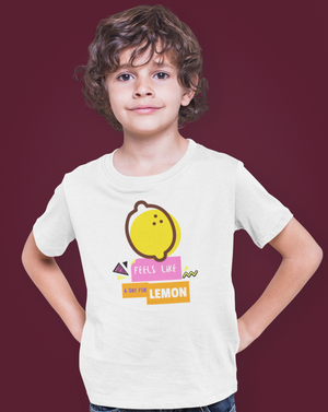Feels Like A Day For Lemon Kids T-shirt - Echo Essential Wear