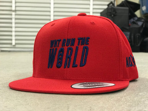 AO Snapback Hat - WNT Run the World - Red