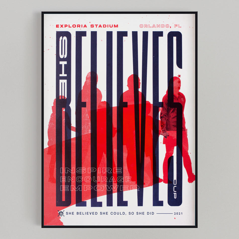 SheBelieves Cup Print Mockup (FRAME IS NOT INCLUDED)