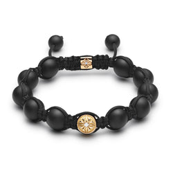 The iconic SHAMBALLA® Braided Bracelet with 10mm beads and macramé braiding