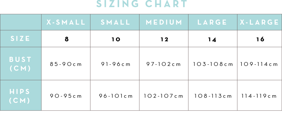 Rock Your Bump Size Chart
