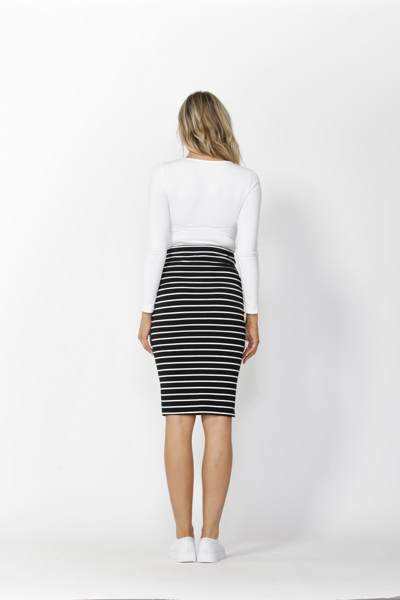 Alicia Midi Skirt - Stripe