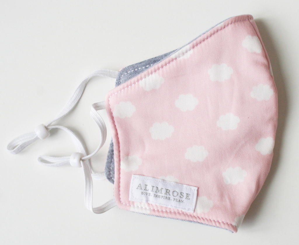 CHILD - 3 Layer Face Mask - Pink Cloud