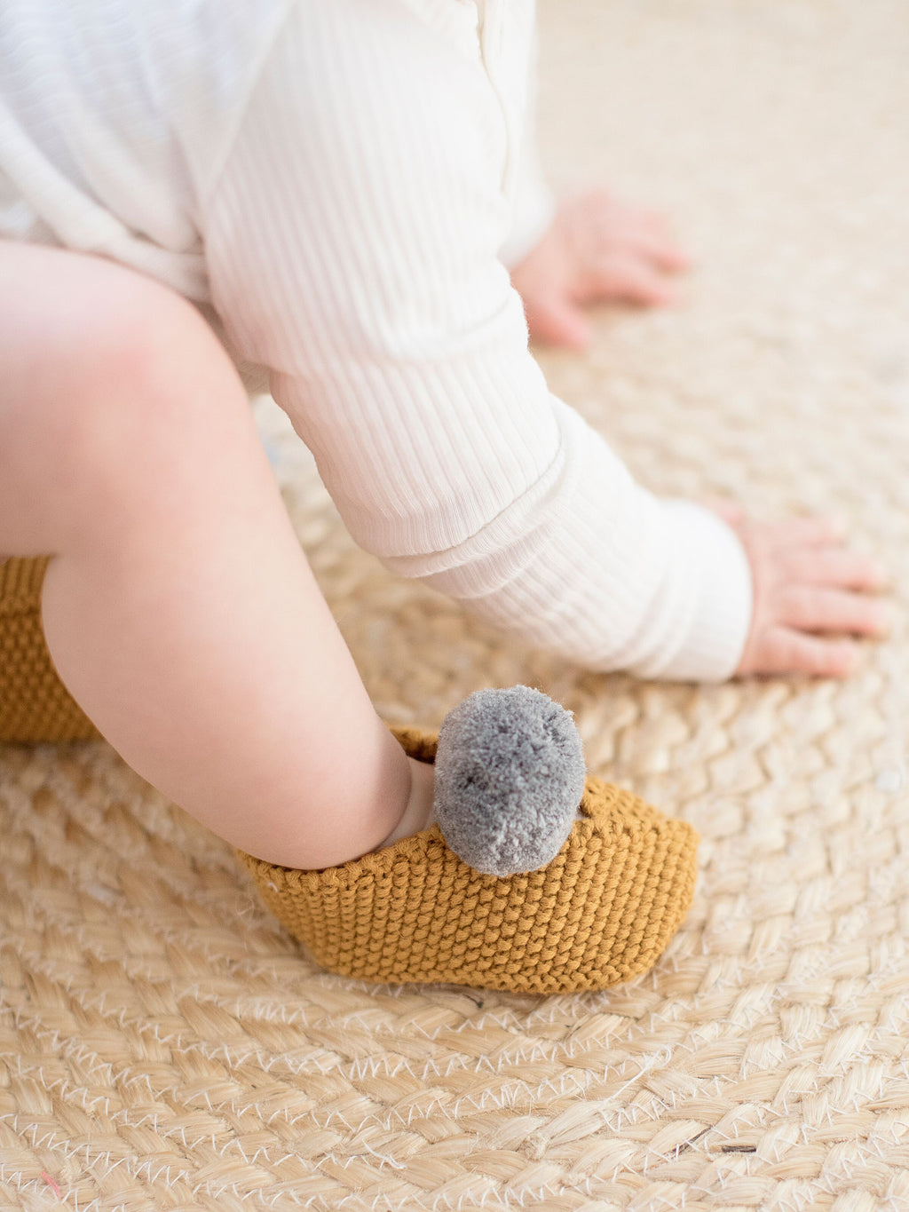 Baby Pom Pom Slippers (Butterscotch)