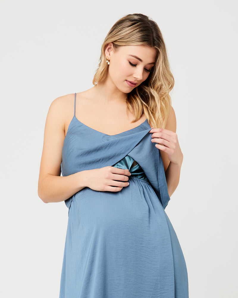 Nursing Slip Dress Petrol