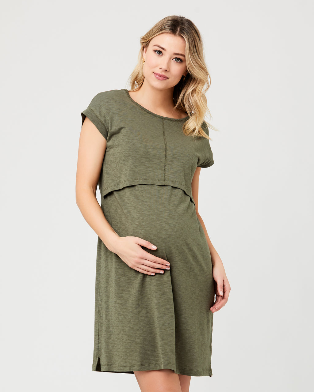 Roxie Nursing Dress Khaki
