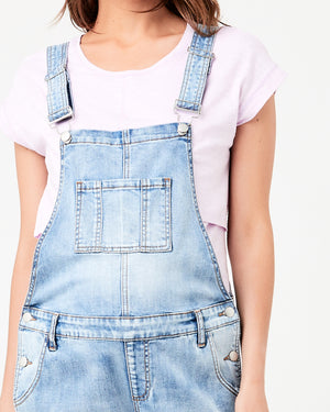 Denim Overalls Pale Blue