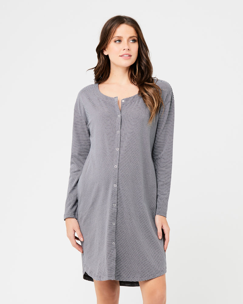 Blake Organic Nightie Gunship / White
