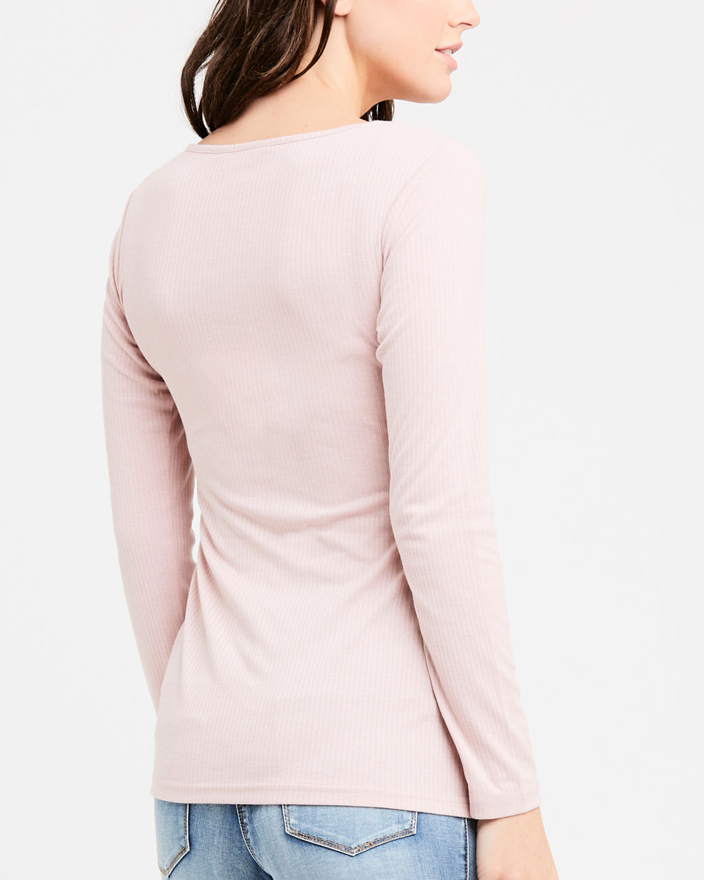 Tessa Rib Nursing Top Dusty Pink