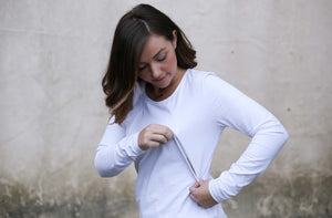 White Basic Breastfeeding Top by Addison Clothing