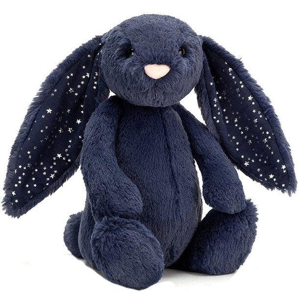Jellycat Bashful Stardust Bunny Medium Navy