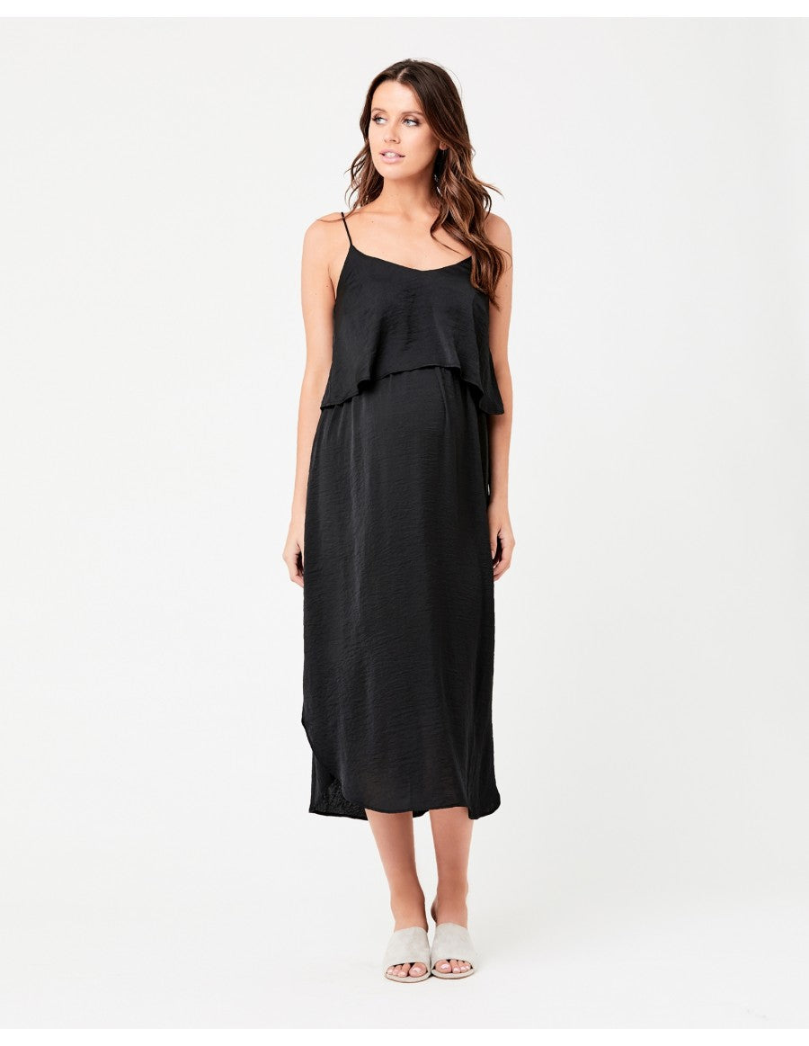 Nursing Slip Dress - Black