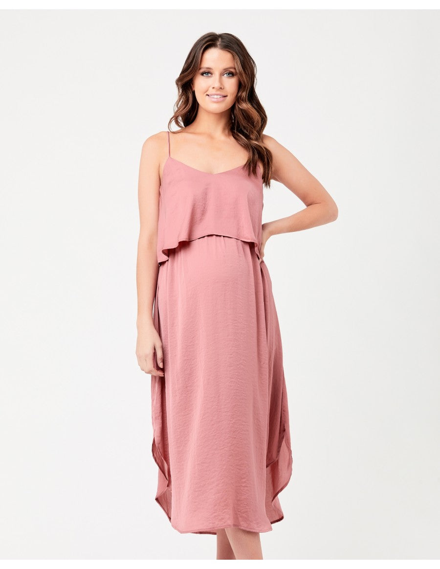Nursing Slip Dress - Rose
