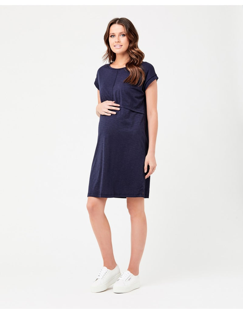 Roxie Nursing Dress Navy