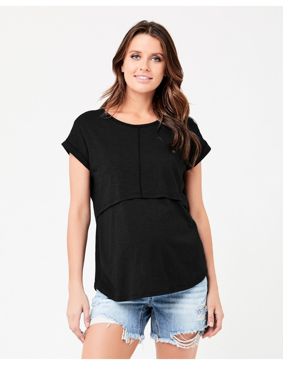 Richie Nursing Tee - Black
