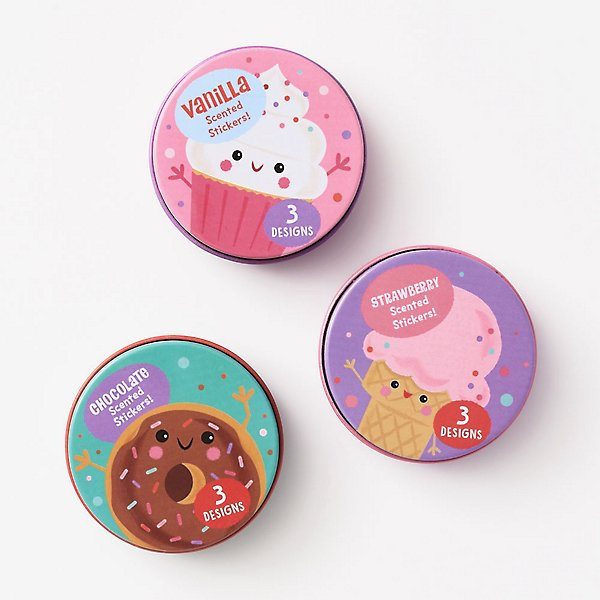 sweet scented sticker tins