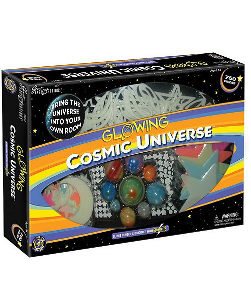 glowing cosmic universe set