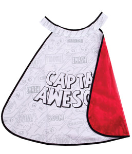 colour a cape super hero