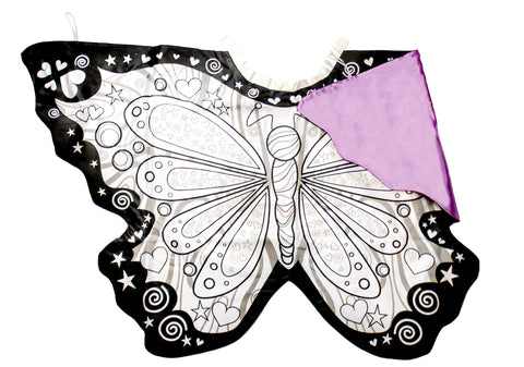 colour a butterfly wings