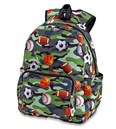 camo sport backpack