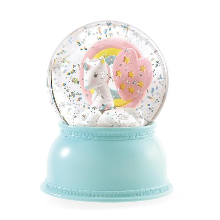 unicorn snowglobe nightlight
