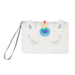 unicorn fur wristlet