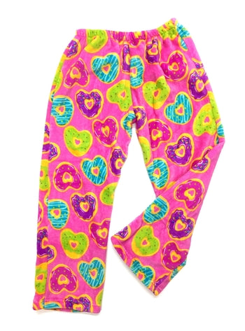 heart donut fuzzie pants