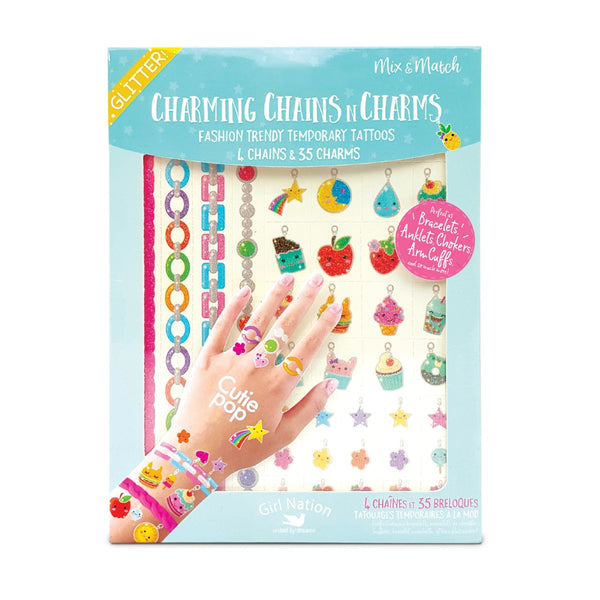 charming chains n charms temporary tattoos