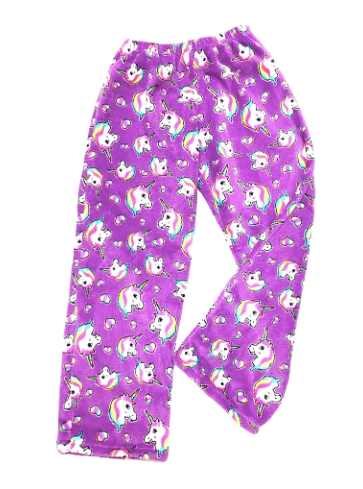 pretty unicorn fuzzie pants