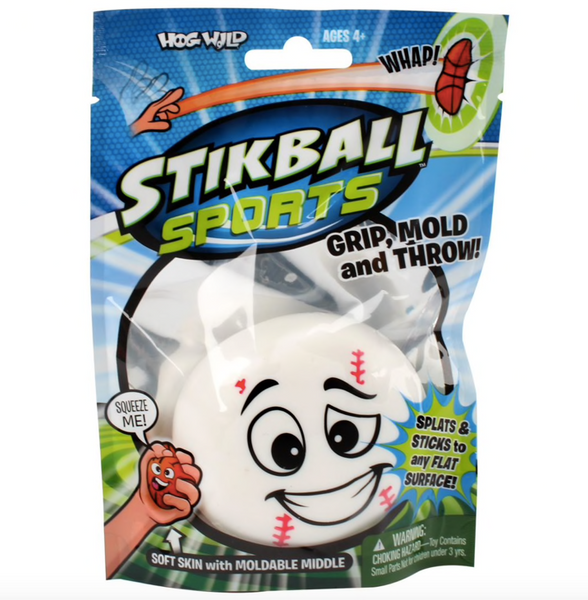 stikball baseball, basketball, football and soccer