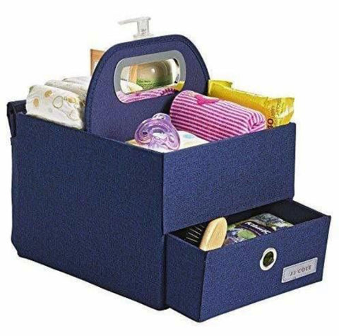 diaper and wipes caddy - pink, navy, slate