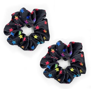 multi star velvet scrunchie