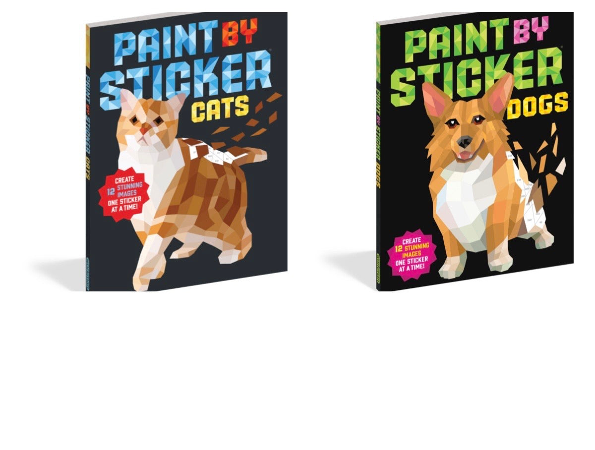 paint by sticker - cat or dog