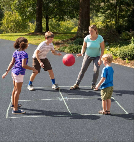playground classics set - kickball, hopscotch and 4-square